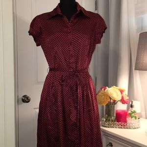 JBS Satin Look Polka Dot Dress